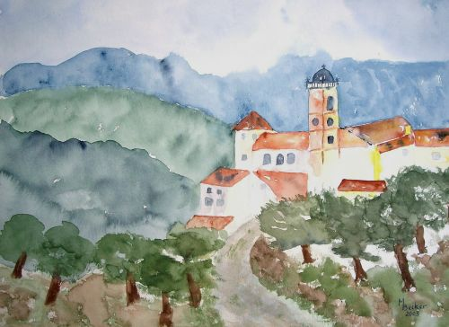 abbey painting image