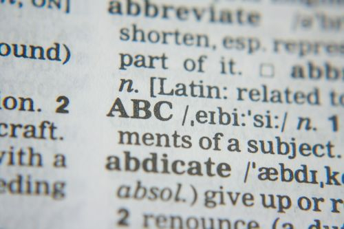 abc dictionary words
