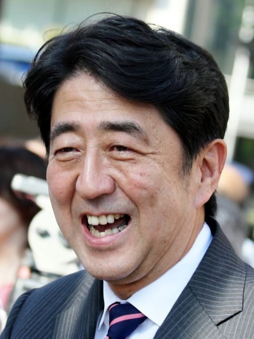 abe shinzo person portrait
