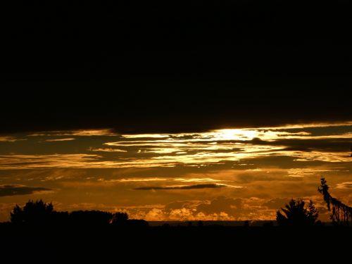 abendstimmung golden sky sky