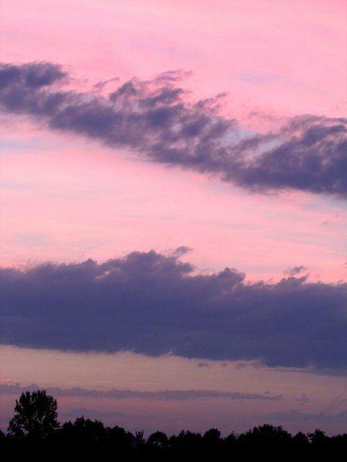 abendstimmung clouds sunset