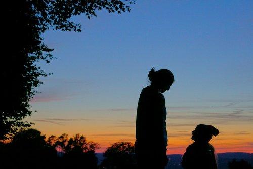 abendstimmung  silhouette  atmospheric