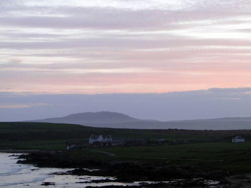 abendstimmung lonely house coastal landscape