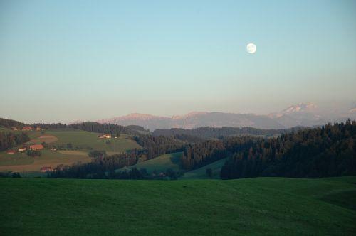 abendstimmung full moon emmental