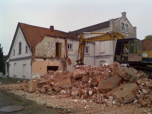 abort house demolition demolition