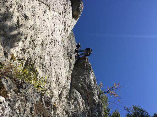 abseil rock climb