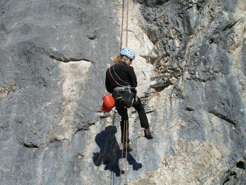 abseil climb climber