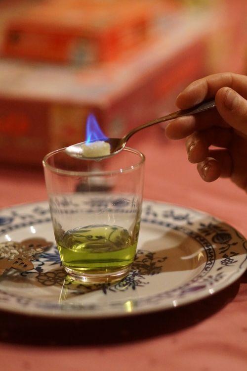 absinthe blue flame evening