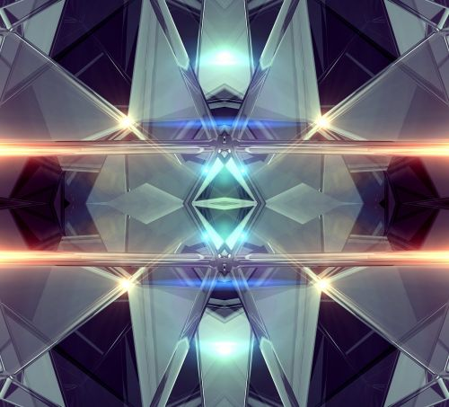 abstract glow kaleidoscopic