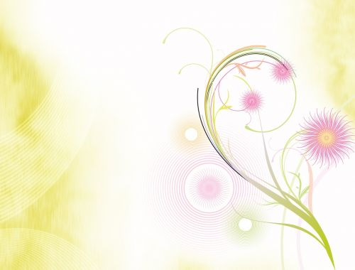abstract background flowers