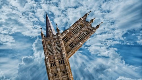 church abstract steeple