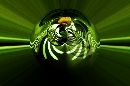 abstract art green