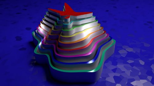 abstract 3d the colors of the rainbow