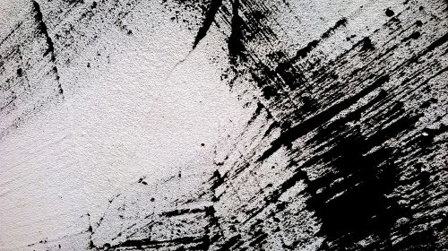 abstract black and white wall