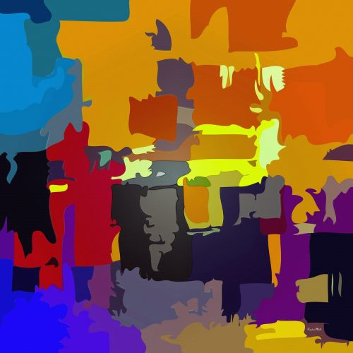 abstract vibrant colour