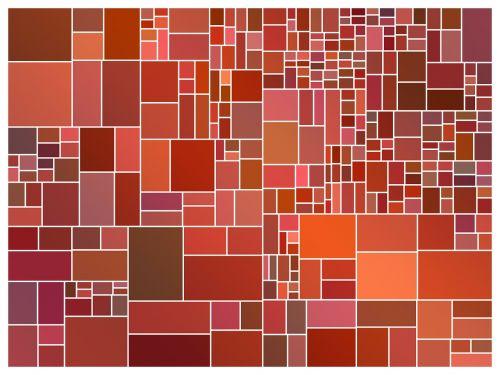 abstract squares arrangement