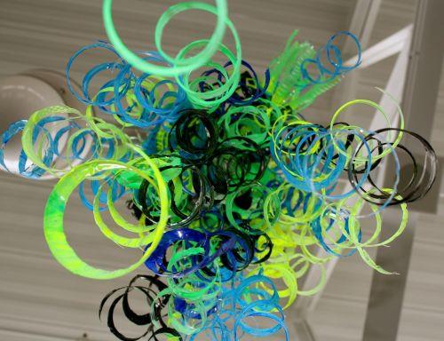 abstract bottles art