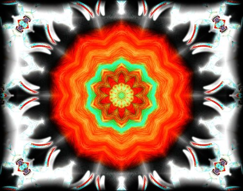 abstract  kaleidoscope  colored