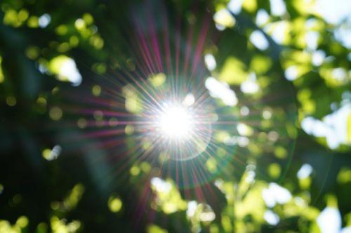 abstract sun light