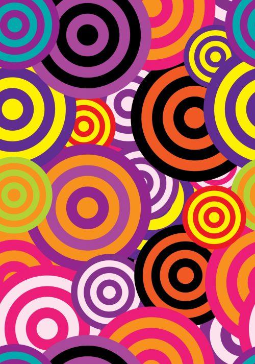 Abstract 60s Circles Wallpaper
