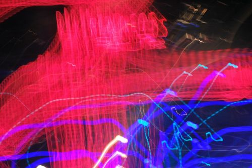abstract movement lights