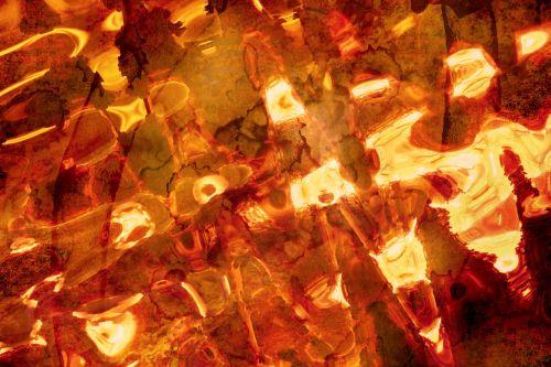 abstract fire light