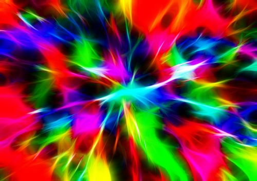 abstract color burst