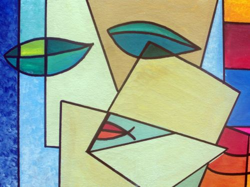 Abstract Art Face