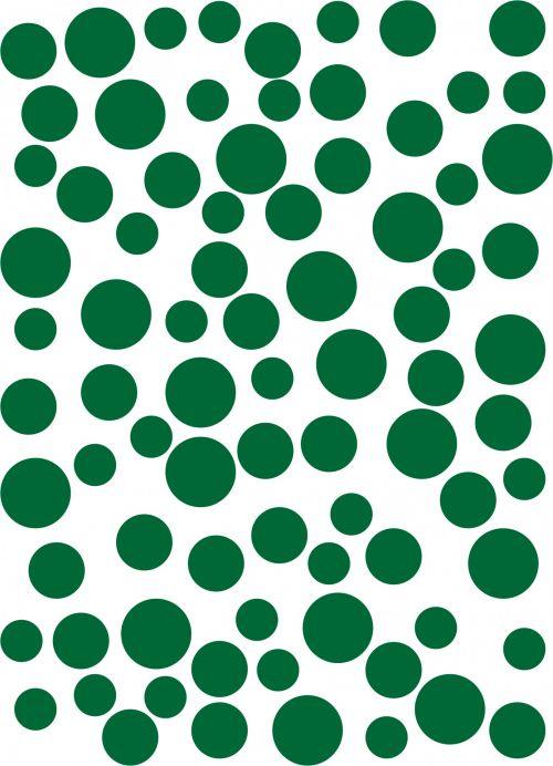 Abstract Circles Spots Green