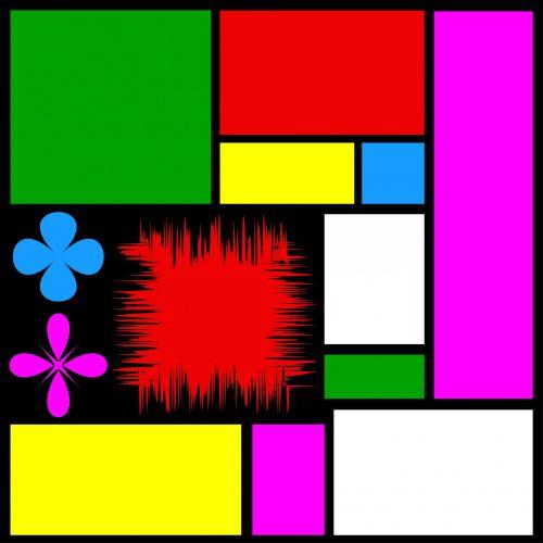 Abstract Colour Composition