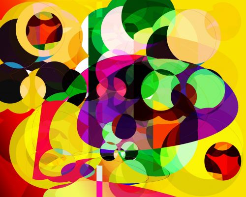Abstract Colours And Shapes