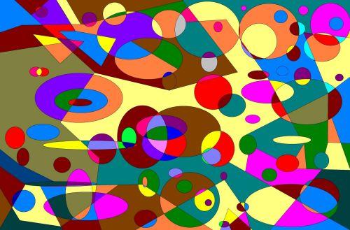 Abstract Digital Circle