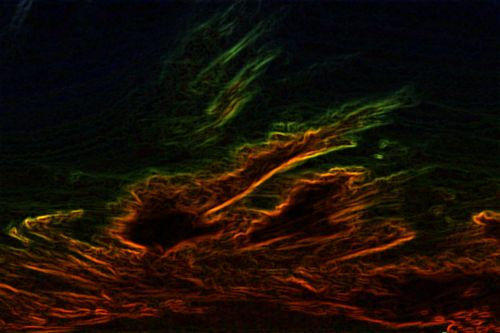 Abstract Glowing Edges
