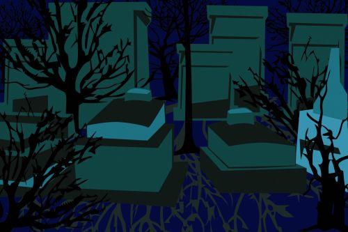 Abstract Graveyard Illustration