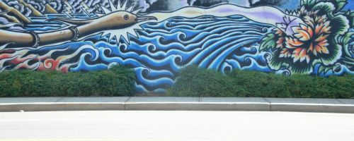 Abstract Mural Wall