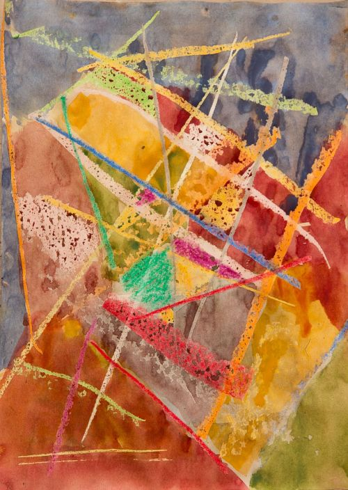 abstract painting paint art