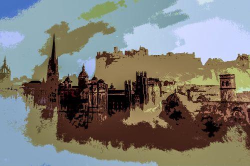 Abstract Painting Edinburgh