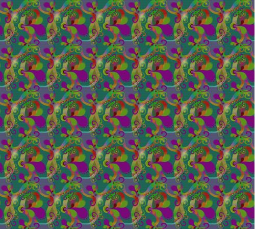 Abstract Paisley Pattern