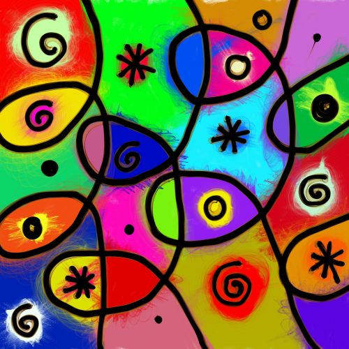 Abstract Whimsical Shapes