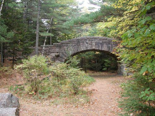 acadia national park maine stone bridge