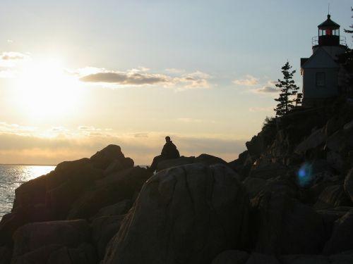 acadia national park maine sky