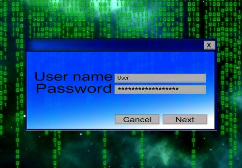 access data password mask