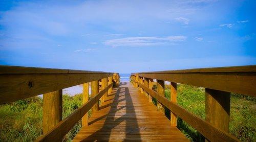 access to the beach  railing  beach