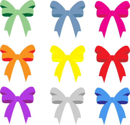 accessories bows collected game assets