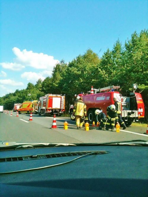 accident a11 motorway fire