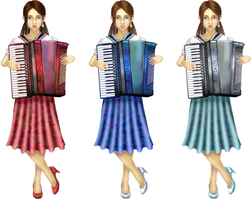 accordion  women  girl
