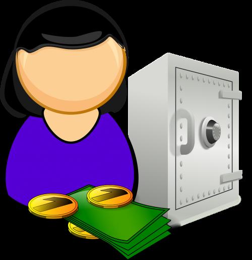 accountant bank deposit box