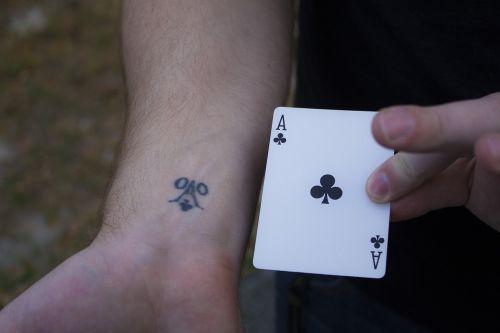 ace card tattoo
