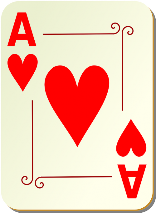 ace hearts playing cards