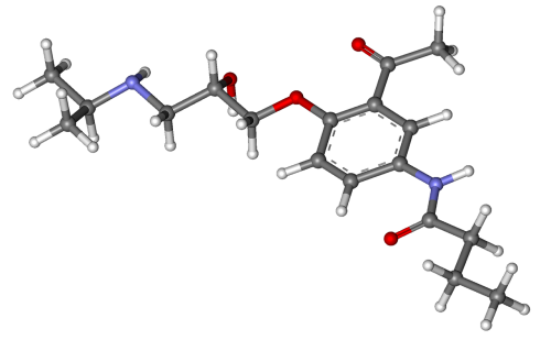 acebutolol beta blocker molecule